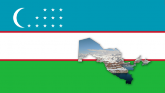 uzbekistan flag and country geographic clip mask